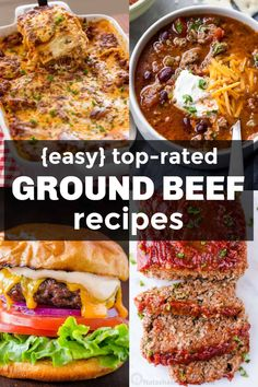 Our Best Ground Beef Recipes! We always keep a stash of ground beef in the freez… Our Best Ground Beef Recipes! We always keep a stash of ground beef in the freezer for quick, inexpensive and easy ground beef dinners. Ground Beef Pasta, Healthy Ground Beef, Dinner With Ground Beef, Ground Beef Crockpot Recipes, Beef Casserole Recipes, Beef Recipes For Dinner, Minced Beef Recipes Easy, Top Recipes, Meat Recipes