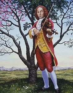 """Celebrated violinist and composer, son of a violinist of the ducal chapel of San Marco, Antonio Vivaldi was born in Venice March 4, 1678. No one knows almost nothing about his childhood: his father was probably a pupil, but also of Legrenzi (maestro di cappella at San Marco from 1685 to 1690). Received the minor orders between 1693 and 1696, was ordained a priest in 1703, and this particular, combined with wild red hair earned him the nickname of """"Priest Red."""""""