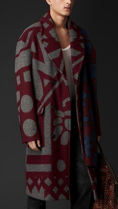 Interesting Burberry Prorsum Equestrian Blanket Topcoat... I think I might prefer the classic black topcoat.