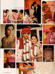Asian Indian Wedding Cake (top middle photo)