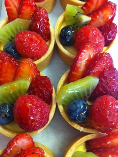 Luscious Mini Fruit Tarts