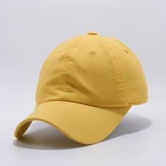 4256ac5434d153 BB108 Cotton Dad Hat [Yellow] Wholesale Hats, Brass Buckle, Dad Hats,