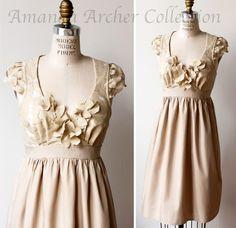 Enchantment Dress in beige rose lace, by Amanda Archer Lace Bodice, Lace Dress, Dress Up, Dress Casual, Pink Dress, Pretty Dresses, Beautiful Dresses, Beautiful Flowers, Chiffon