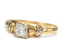 Daring Dazzle - Vintage Engagement Ring