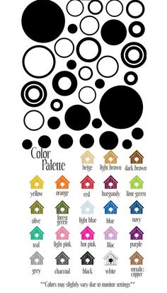 Sheet of Circles and Dots Vinyl Wall Sticker - Wall Sticker Outlet