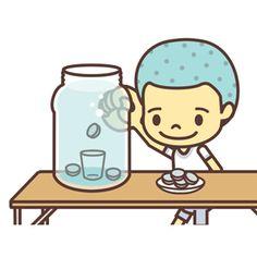水の中のグラスにコインを入れるゲームです。水中コイン落とし。English page : Dropping Coins into Water Game遊び方とルール梅酒のビンに水を入れて、グラスを沈めます。梅酒のビンの上から一円玉を落としま