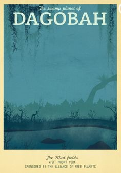 Star Wars Travel Poster: Dagobah