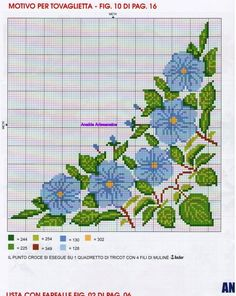 corner - nice for pillow cases Cross Stitch Borders, Modern Cross Stitch, Cross Stitch Flowers, Cross Stitch Charts, Cross Stitch Designs, Cross Stitching, Cross Stitch Embroidery, Cross Stitch Patterns, Hand Embroidery Designs