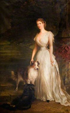 ⍕ Paintings of People & Pets ⍕ Unknown Artist | Ellen Mary, Countess of Shrewsbury