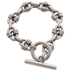 Vintage Sterling Silver Hermes Bracelet | From a unique collection of antique and modern sterling silver at https://www.1stdibs.com/furniture/dining-entertaining/sterling-silver/