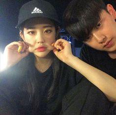 asian, korean, and ulzzang couple image