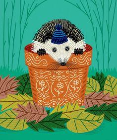 A Hedgehog's Home - Children's Poster - Animal Art - Children's Decor - Nursery Decor - illustration - wall art - poster print