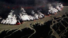 Bing Image Archive: Holuhraun volcanic eruption, Iceland (© Johnathan Ampersand Esper/Aurora Photos)(Bing United Kingdom)