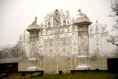 Gates at Chirk Castle, North Wales