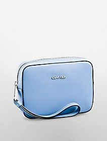 galey saffiano leather wristlet cosmetic case $78.00