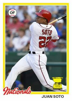 1978 Topps baseball design Juan Soto ASR Washington Nationals, York, Baseball Cards, Sports, Design, Hs Sports, Sport, Design Comics