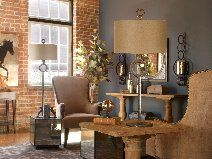 Loft style living @thecomfortableh | photo credit: Uttermost