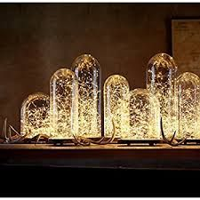 Image result for [10-PACK] LED String Lights, 3.5 Foot LED Moon Lights 20 Led Micro Lights On Silver Copper Wire ( Batteries Include) For DIY Wedding Centerpiece, Table Decoration, Party (Warm White)