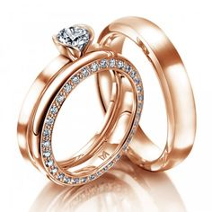 Meister, Wedding Ring, Engagement Ring, Solitaire, Rose Gold, Diamonds