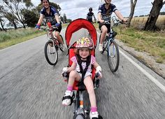 A recumbent bike for the little ones.