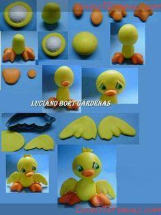 Duck cake topper