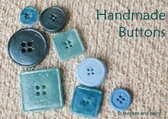 buttons and paint...: ... and Handmade Buttons (a ThermoMorph Review)