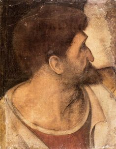 Title:	Head of Judas Painted by:	Leonardo Da Vinci Year:	- Orientation:	Portrait Medium:  pencil, black chalk, paste and watercolor Dimensions	Height: 562 mm (22.13 in). Width: 435 mm (17.13 in). Current location	 Musée des Beaux-Arts de Strasbourb
