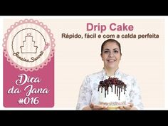 Upside down Double Drip Cake Bolo Drip Cake, Drip Cakes, Chocolate Drip Cake, Cake Youtube, Cook, Piping Tips, Decorating Cakes, Sweet Recipes, Food