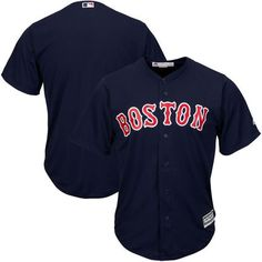 dffeacc4b Men s Boston Red Sox Majestic Navy Alternate Big   Tall Cool Base Team  Jersey