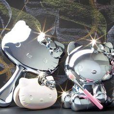 Hello Kitty Mirror Set (^∇^) and Hello Kitty Bathroom, Hello Kitty Rooms, Here Kitty Kitty, Pretty Cats, Cute Cats, Hello Kitty Makeup, Hello Kitty Collection, Kawaii, Mirror Set