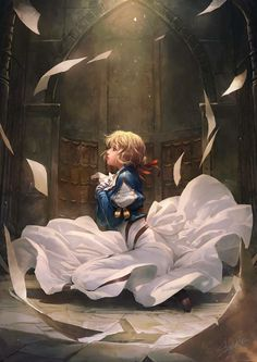 violet evergarden (violet evergarden) drawn by sariya asavametha Art Manga, Manga Anime, Anime Art, Violet Evergarden Wallpaper, Violet Evergreen, Violet Garden, Violet Evergarden Anime, Wallpaper Animes, Kyoto Animation
