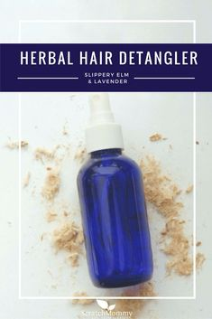 No more tears, no more toxins! All you need are just a few ingredients to make your own herbal hair detangler.