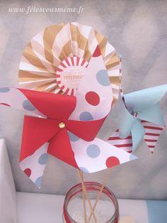5 x mini de poche pliage de papier fan-summer partie cadeau faveur nuptiale décoration