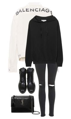 """""""Untitled #864"""" by petitaprenent on Polyvore featuring Balenciaga, Yves Saint Laurent, Topshop and IRO.JEANS"""