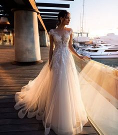 Discount 2019 Gorgeous Wedding Dresses Sheer Neck Cap Sleeves Lace Appliques I . - Discount 2019 Gorgeous Wedding Dresses Sheer Neck Cap Sleeves Lace Appliques Illusion Back Boho Wed - Sheer Wedding Dress, Western Wedding Dresses, Gorgeous Wedding Dress, Princess Wedding Dresses, Dream Wedding Dresses, Designer Wedding Dresses, Bridal Dresses, Wedding Gowns, Lace Wedding