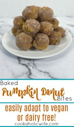 easy to make pumpkin donut bites can be easily adapted to vegan or dairy free. #pumpkindonuts