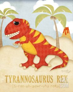 Tyrannosaurus Rex Art Print by Jennifer Pugh at Art.com