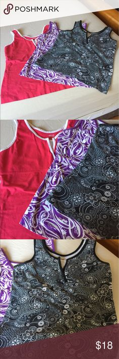 Bundle of 3 cute workout tops!! Gently used, in great condition! Tops Tank Tops