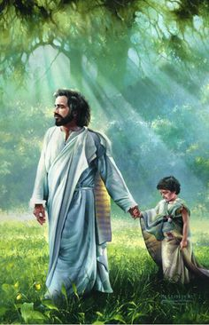 He leadeth me.