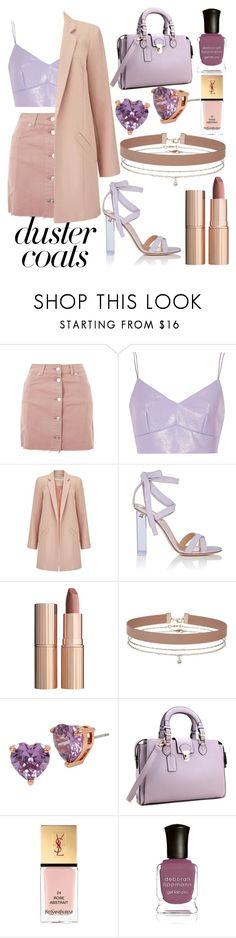 """pretty little thing"" by ethanxfoo ❤ liked on Polyvore featuring Topshop, River Island, Miss Selfridge, Gianvito Rossi, Charlotte Tilbury, Betsey Johnson, Yves Saint Laurent and Deborah Lippmann"