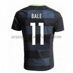Billige Fodboldtrøjer Wales 2016 Landsholdstrøjer Bale 11 Kortærmet Udebanetrøje