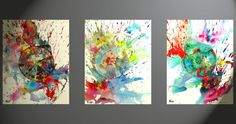 3  Abstract Expressive Painting With Oil And by Creative108
