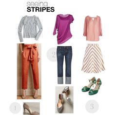 Spring & summer outfit idea for women over 40. Over 40 fashion. Inspiration for stylish women over 40. Featuring stripes.