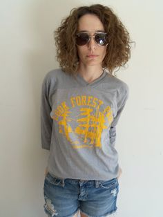 Vintage Gray and Yellow Cook Forest Park by FunkyOldSoul on Etsy