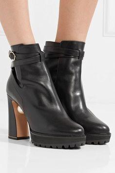 Nicholas Kirkwood - Annabel Embellished Leather Boots - Black
