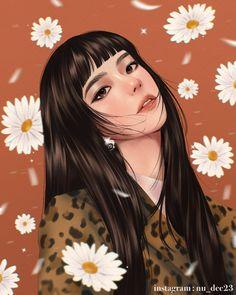 Dark Anime Girl, Anime Art Girl, Carla Fairy Tail, Girly Drawings, Black Pink Kpop, Digital Art Girl, Anime Fantasy, Girl Face, Chinese Art