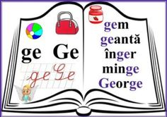 grupurile de litere - grupul GE Language Activities, Activities For Kids, Dream Job, Classroom Decor, Coloring Pages, Homeschool, Teaching, Decoration, Google