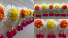 Paper Flowers Craft, Flower Crafts, Paper Crafts, Cloth Flowers, Fabric Flowers, Door Hanging Decorations, Wedding Decorations, Diwali Decoration Items, Creative Money Gifts