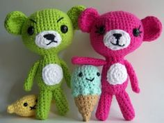 Bears and Friends free crochet pattern by Knotty's Amigurumi amigurumi bear, friends, free amigurumi, teddy bears, food, 1500 free, sour amigurumi, crochet patterns, amigurumi patterns