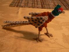 Ring-Necked Pheasant Pipe Cleaner Projects, Pipe Cleaner Art, Pipe Cleaner Animals, Pipe Cleaners, Projects For Kids, Crafts For Kids, Arts And Crafts, Paper Crafts, Spool Knitting